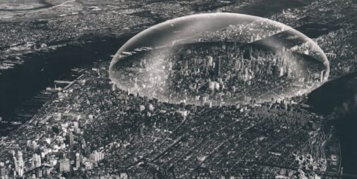 R. Buckminster Fuller, Dome Over Manhattan, 1961, tecnne