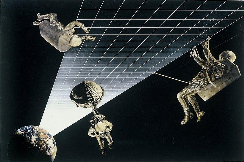 Superstudio, Architettura Interplanetaria. Autostrada terra luna, 1970-1971, tecnne