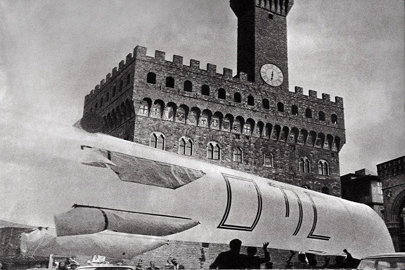 UFO, Urboeffimero 3, Piazza della Signoria, 1968. tecnne