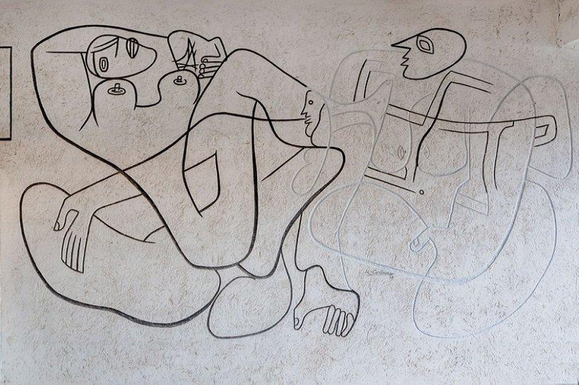 Le Corbusier, Eileen Gray E 1027, tecnne