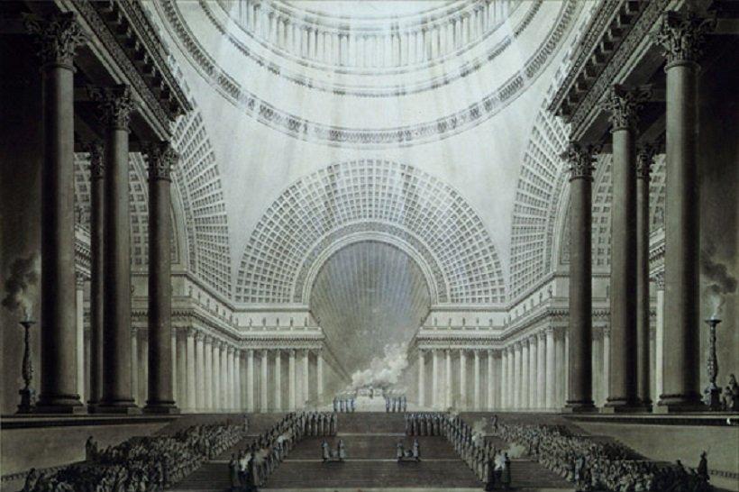 Étienne-Louis Boullée, Basilique, tecnne