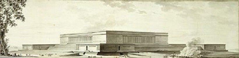 Étienne-Louis Boullée, Palais de Justice, tecnne