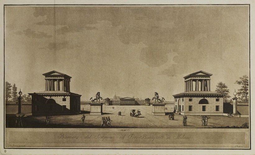 Giovanni Antolini, Project Foro Bonaparte, tecnne