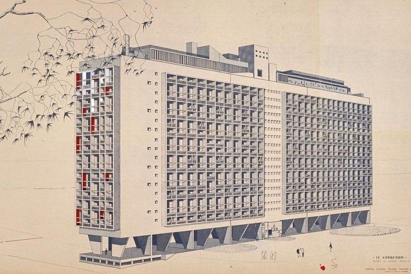 Le Corbusier, Unité d'habitation, tecnne