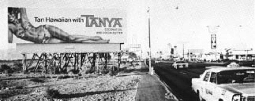 Tanya billboard, from Learning from Las Vegas, tecnne