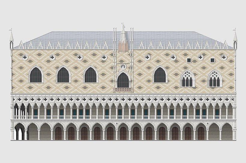 Palazzo Ducale Venezia, tecnne