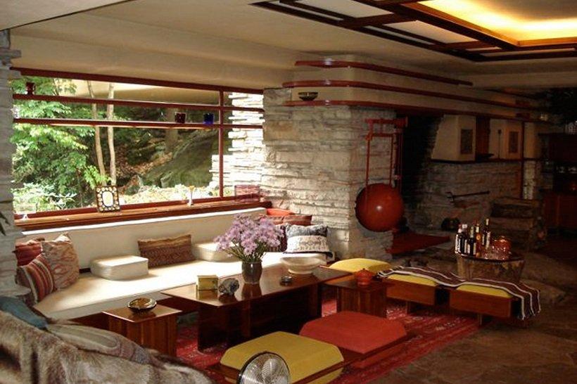 Frank Lloyd Wrigth, Kaufmann house, tecnne ©Daderot