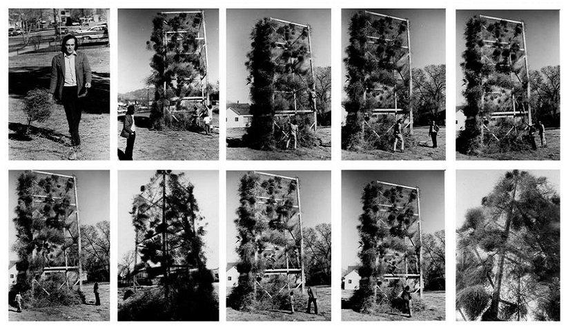 Gianni Pettena, Tumbleweeds Catcher, Salt Lake City, 1972, tecnne