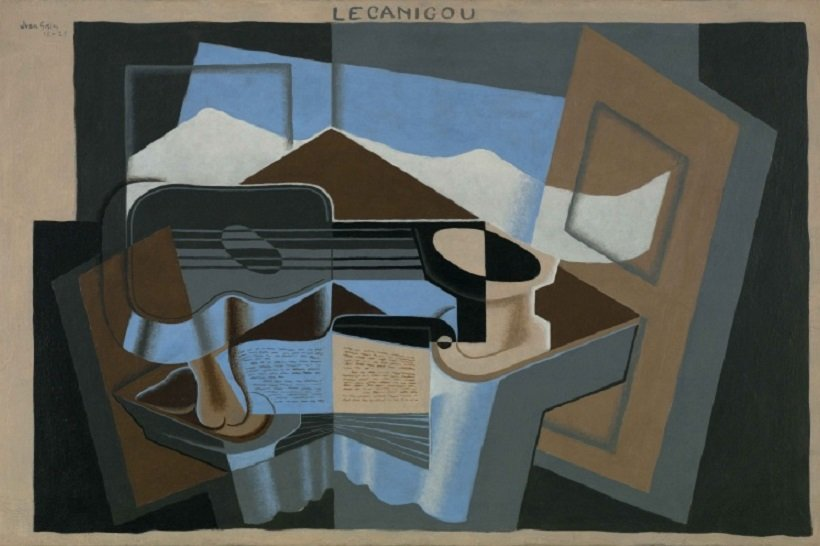 Juan Gris, Le Canigou, 1921, tecnne