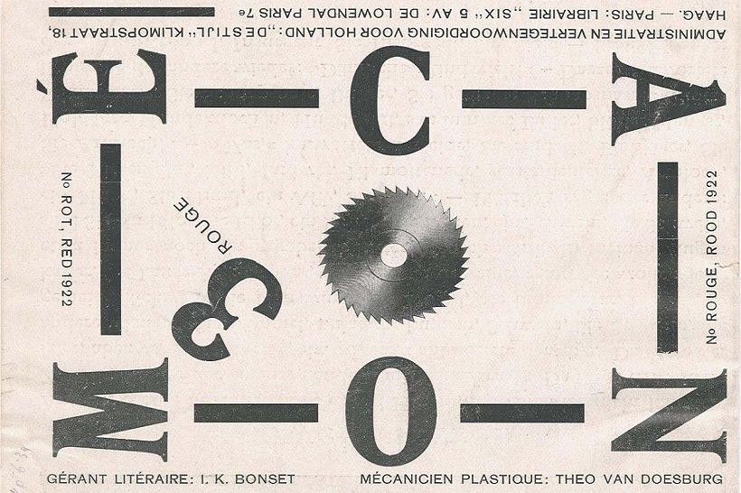 Theo Van Doesburg, Mecano magazine, 1922, tecnne