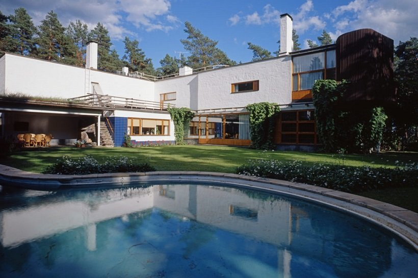 Alvar Aalto, Villa Mairea, tecnne