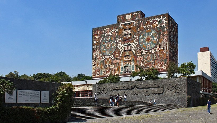 Biblioteca Central UNAM, Ciudad Universitaria, Mexico, ©José Miguel García Fernández, tecnne