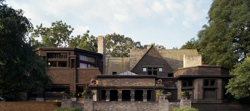 Frank Lloyd Wright, Oak Park Home & Studio, 1889, tecnne