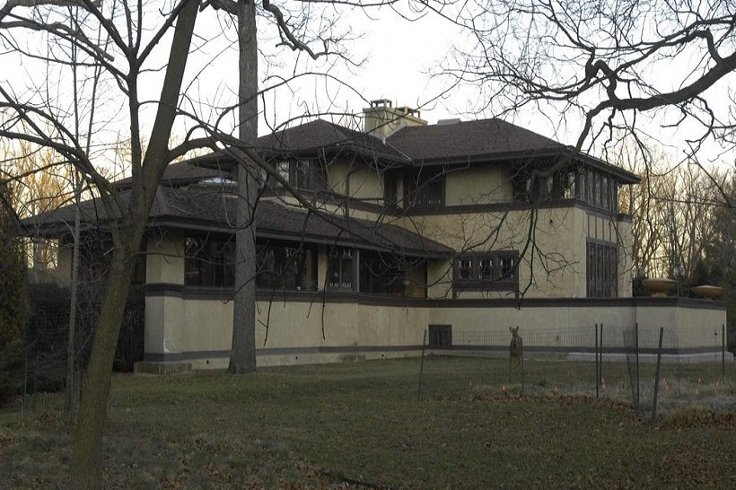 Frank Lloyd Wright, Ward W. Willits House, 1901, tecnne
