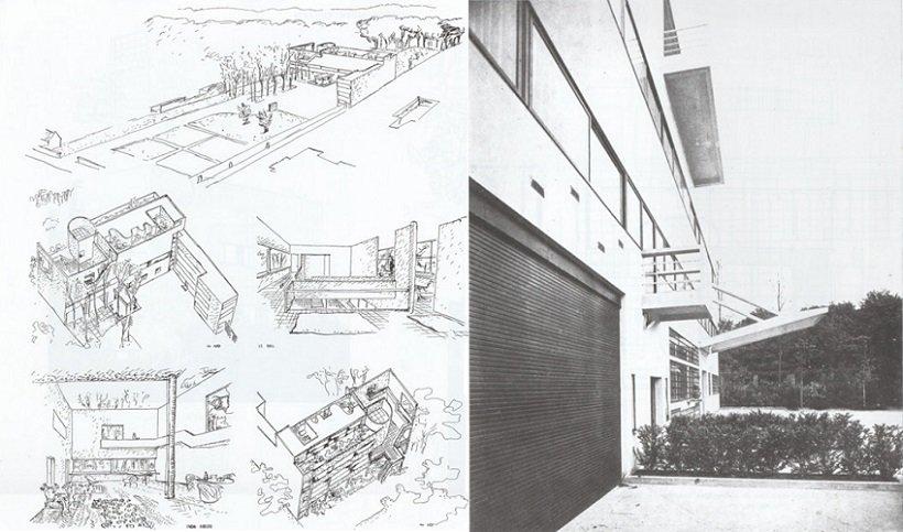 Le Corbusier, Villa Stein de Monzie, 1926, tecnne