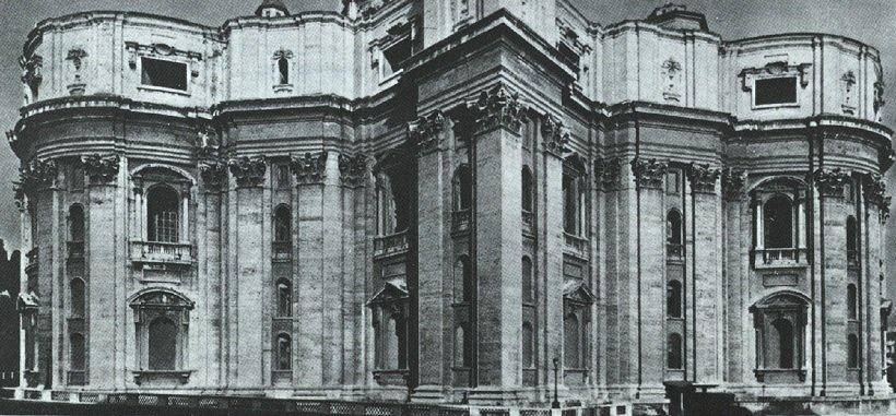 Miguel Angel. San Pedro de Vaticano. 1546-64. Fachada posterior