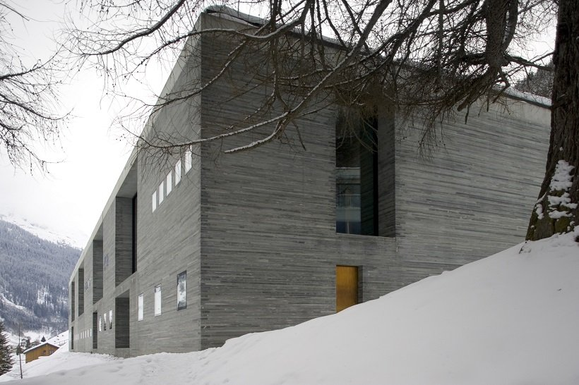 Peter Zumthor, Thermes of Vals, tecnne