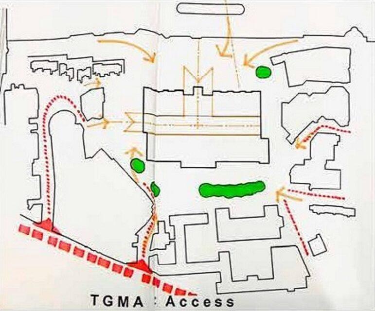 Herzog y de Meuron, Tate Modern, accesos y movimiento, tecnne