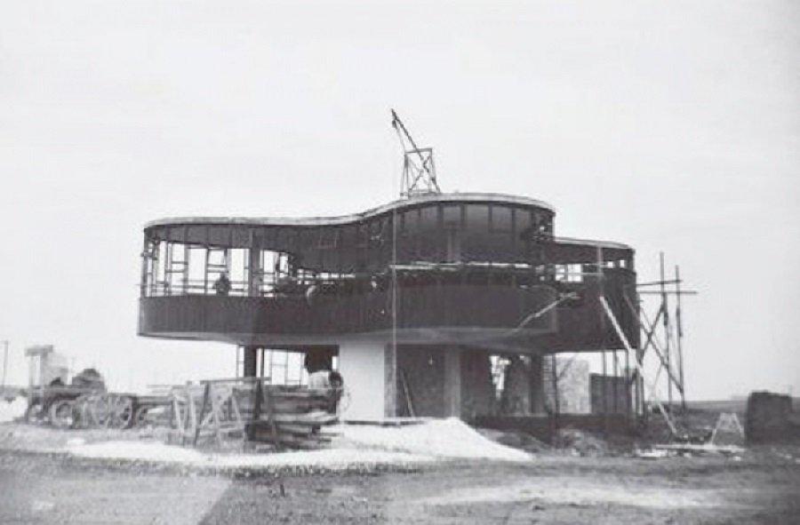 Parador Ariston en construcción, tecnne