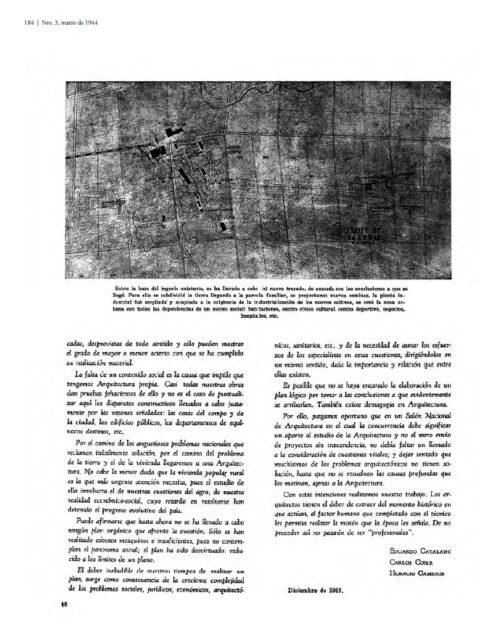 Planteamiento de un problema urbanistico, Tecné 3, 1944, tecnne