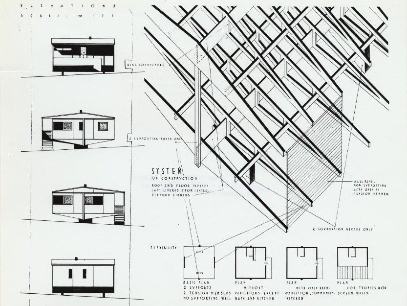 Marcel Breuer, Plas 2 Point, 1942, tecnne