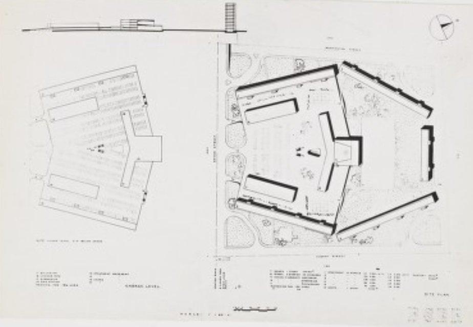 Marcel Breuer, South Boston Redevelopment Plan, 1943, tecnne