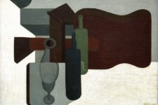 Amadee Ozenfant, Guitarra y botellas, 1920, tecnne