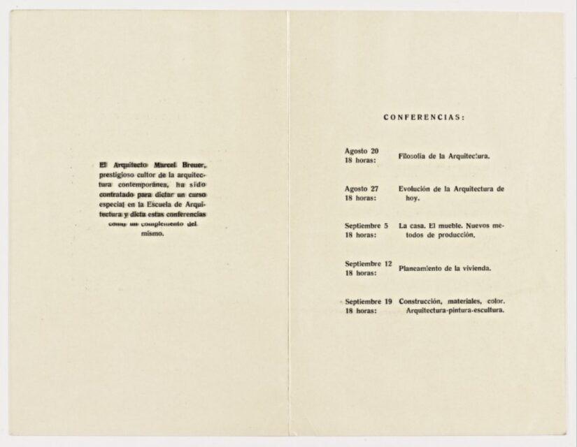 Conferencias de Breuer en Buenos Aires, Agosto de 1947, tecnne