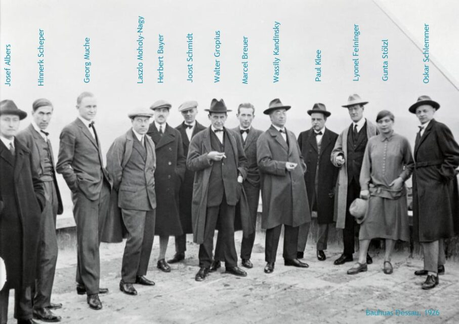 Maestros de Bauhaus Dessau, 1926, tecnne