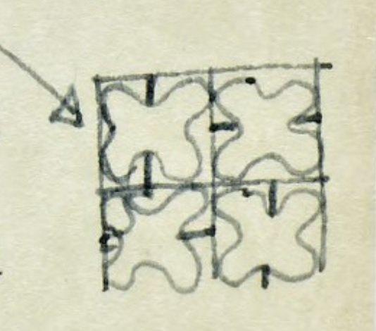 Parador Ariston, esquema del cartel móvil, tecnne