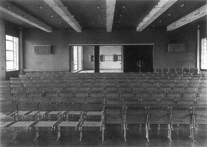 Marcel Breuer, Auditorio Bauhaus, 1926, tecnne