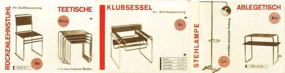 Marcel Breuer, Folleto Standard-Möbel, 1928, tecnne