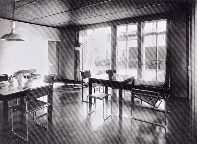 Marcel Breuer, casa Gropius en la Deutscher Werkbund, 1927, tecnne