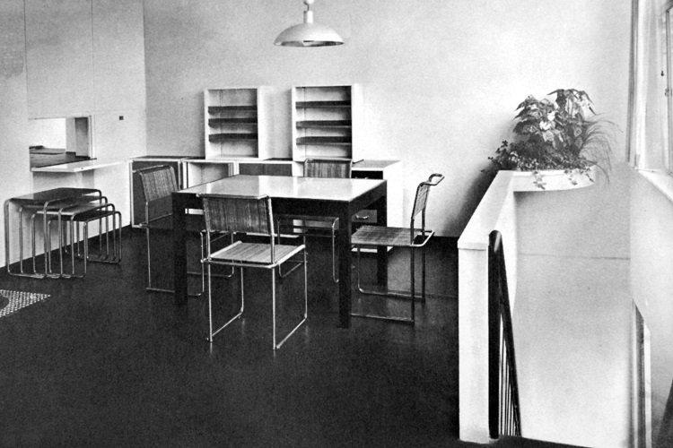 Marcel Breuer, casa Stam en la Deutscher Werkbund, 1927, tecnne