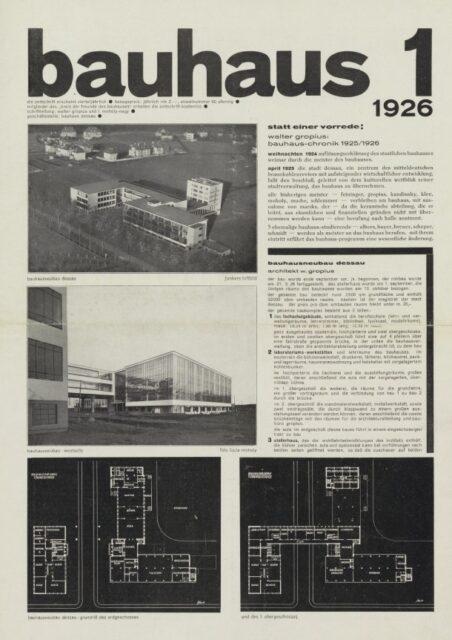 Revista Bauhaus 1, 1926, tecnne