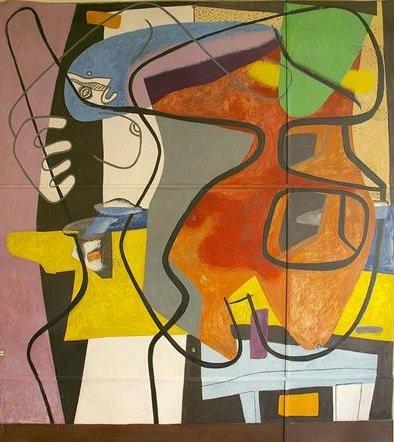 Le Corbusier Mural A35s tecnne