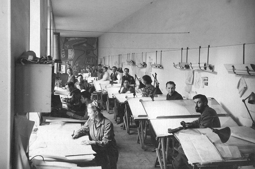 Le Corbusier, Atelier 35S, tecnne