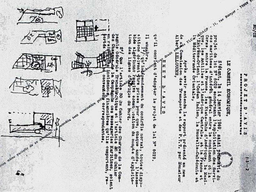 Casa Curutchet, esquemas de Le Corbusier